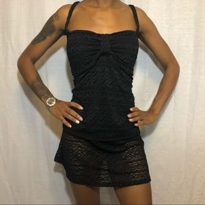Catalina Crochet Bandini Top and Skirted Bottom